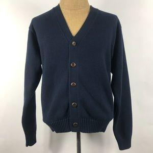 L.L. Bean Men's Button Down V-neck Sweater Small